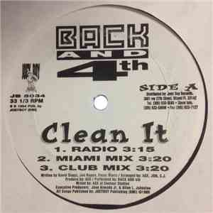 Back And 4th - Clean It album flac