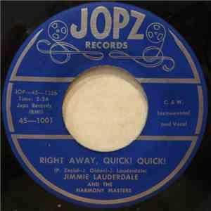 Jimmie Lauderdale And The Harmony Masters - Right Away, Quick! Quick! album flac